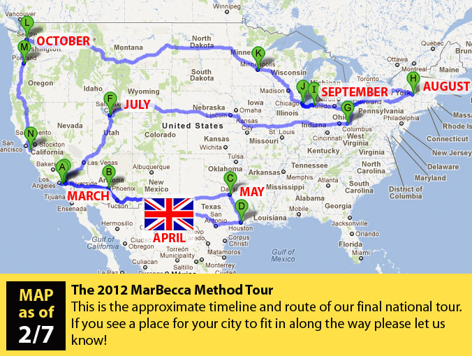 Proposed Tour Route