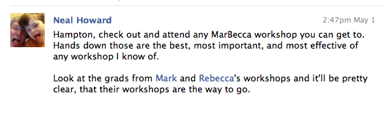 Neal Howard Endorses MarBecca Workshops
